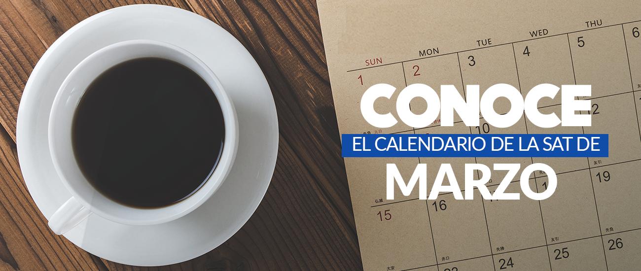 Calendario Sat Marzo