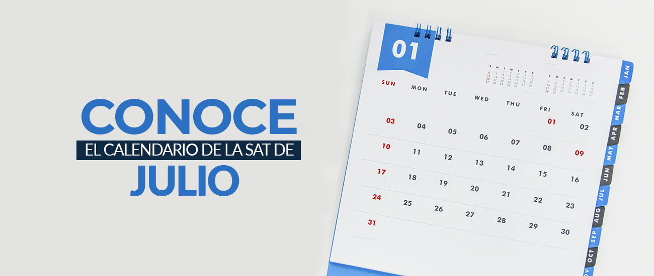 Calendario SAT julio 2018 - Banco Industrial