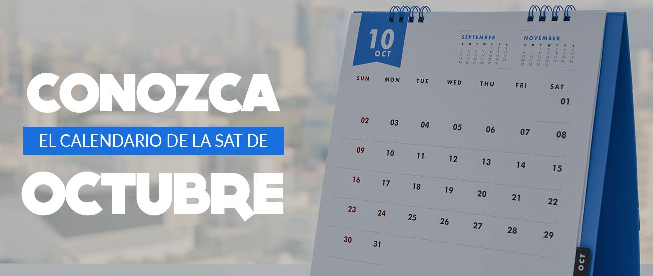 Calendario octubre SAT - Banco Industrial