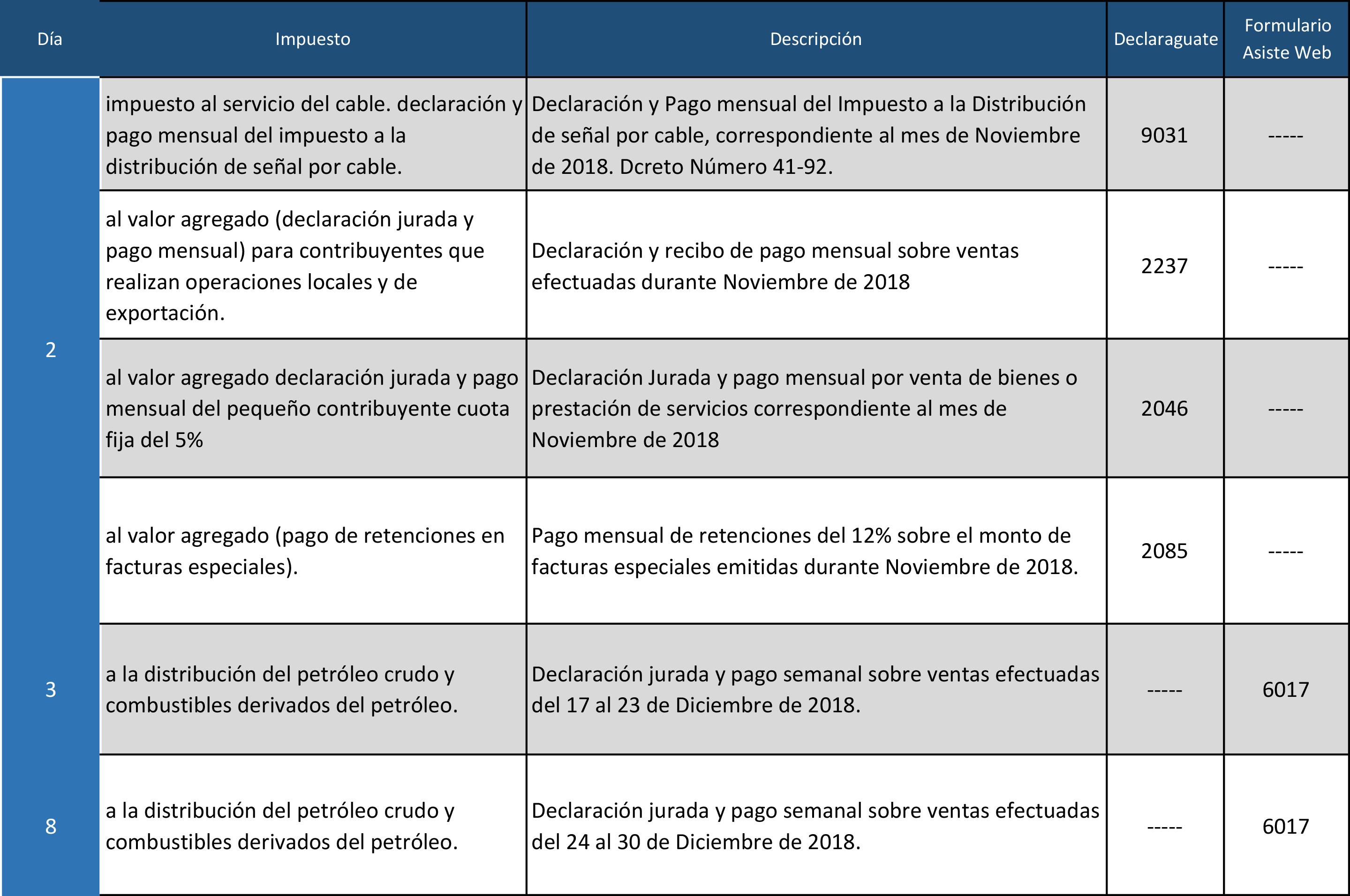 Calendario Enero 2019-1