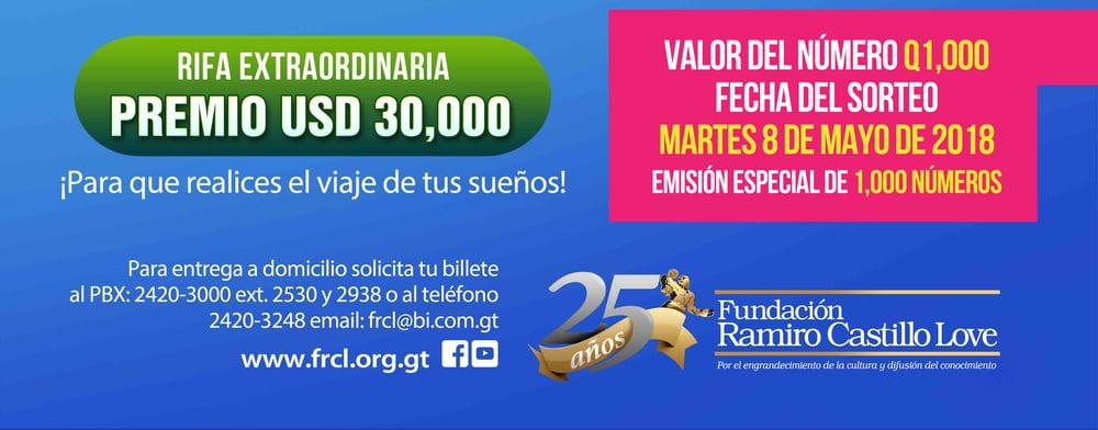 Rifa extraordinaria Fundación Ramiro Castillo Love