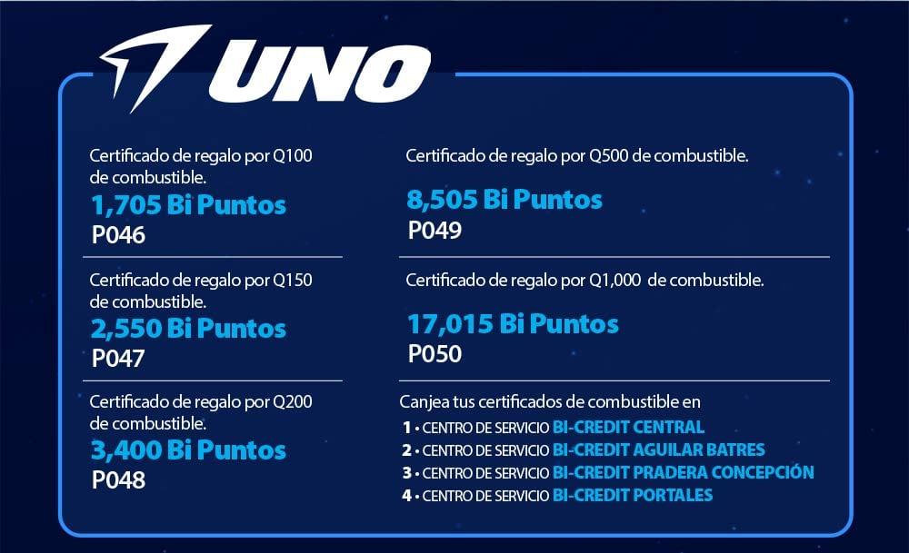 Bi Puntos Banco Industrial UNO