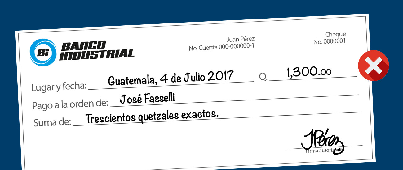 CHEQUES BANCO INDUSTRIAL
