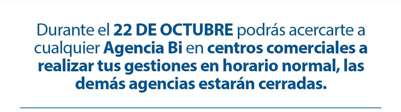 Horarios especiales 20 de Octubre