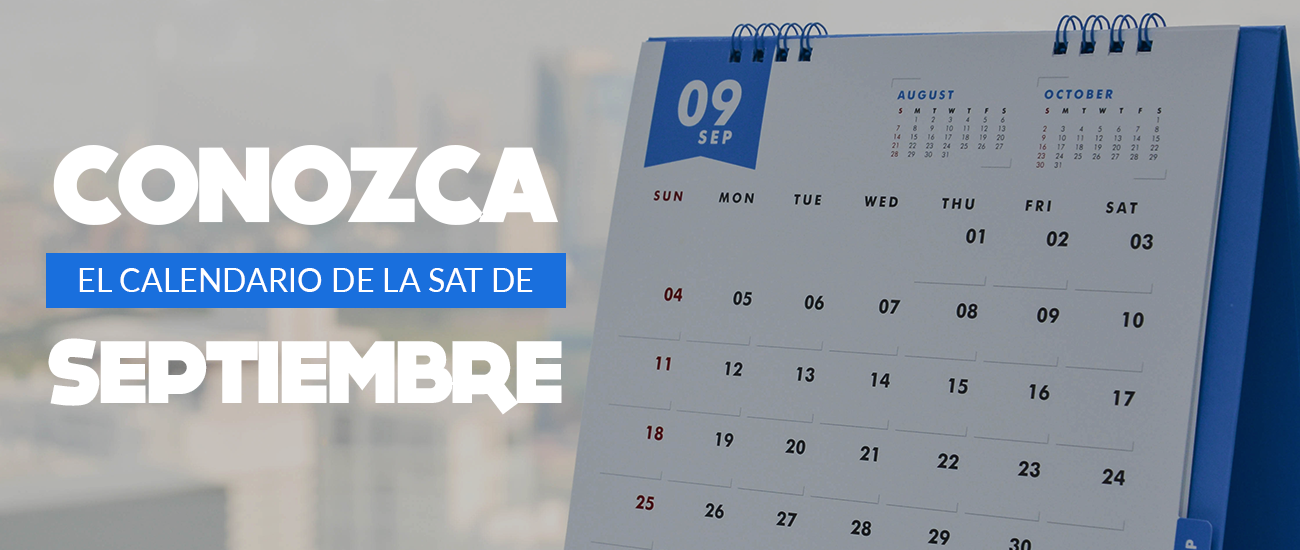 Calendario Sat Septiembre - Bi en Línea