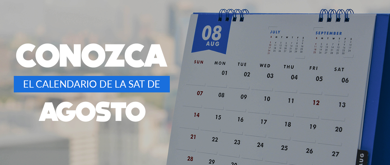 Calendario SAT agosto 2018