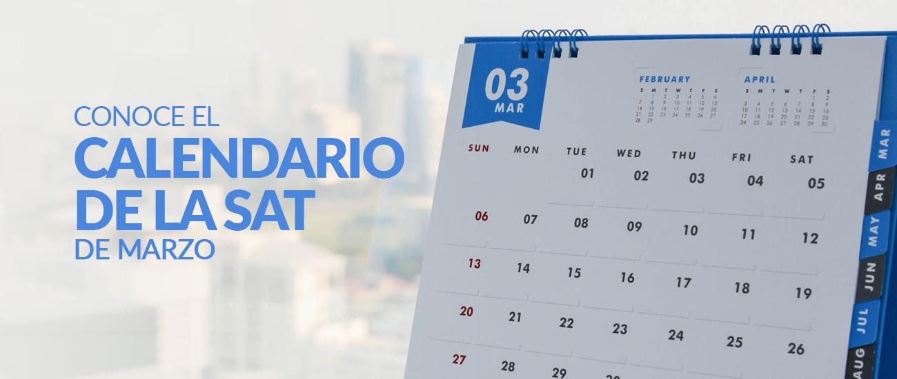 Calendario SAT marzo - Banco Industrial