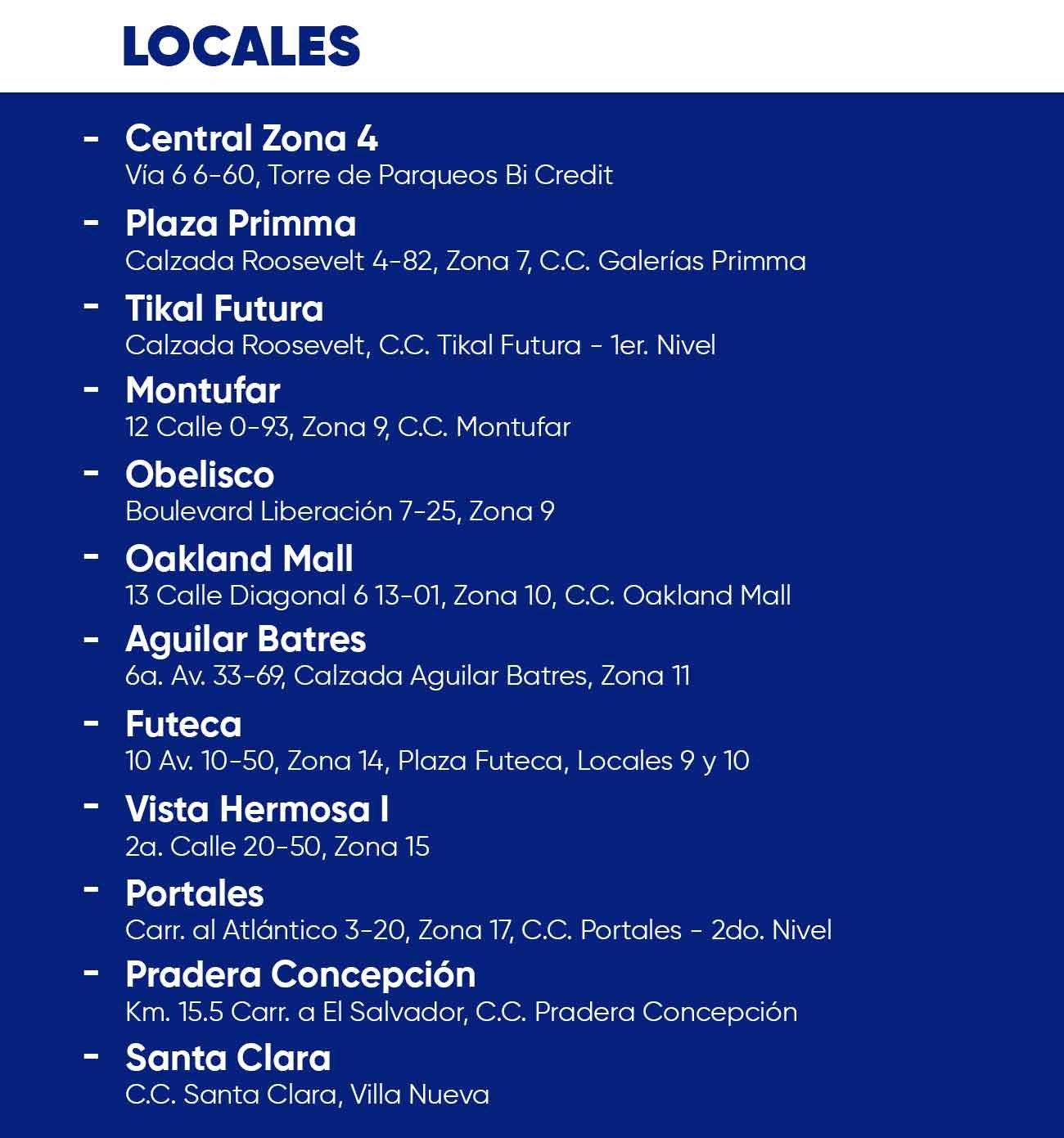 Centros-de-Servicio-Bi-Credit Locales