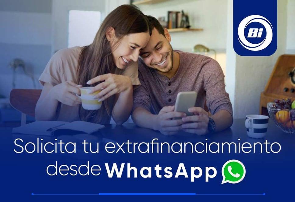 Extrafinanciamiento Whatsapp 1-1