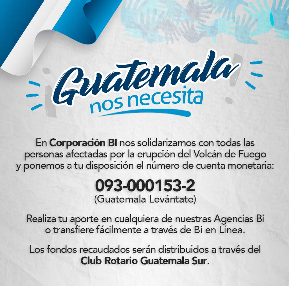 Guatemala levántate Banco Industrial