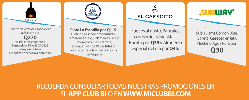Beneficios Club Bi - Mayo 2018 - Banco Industrial