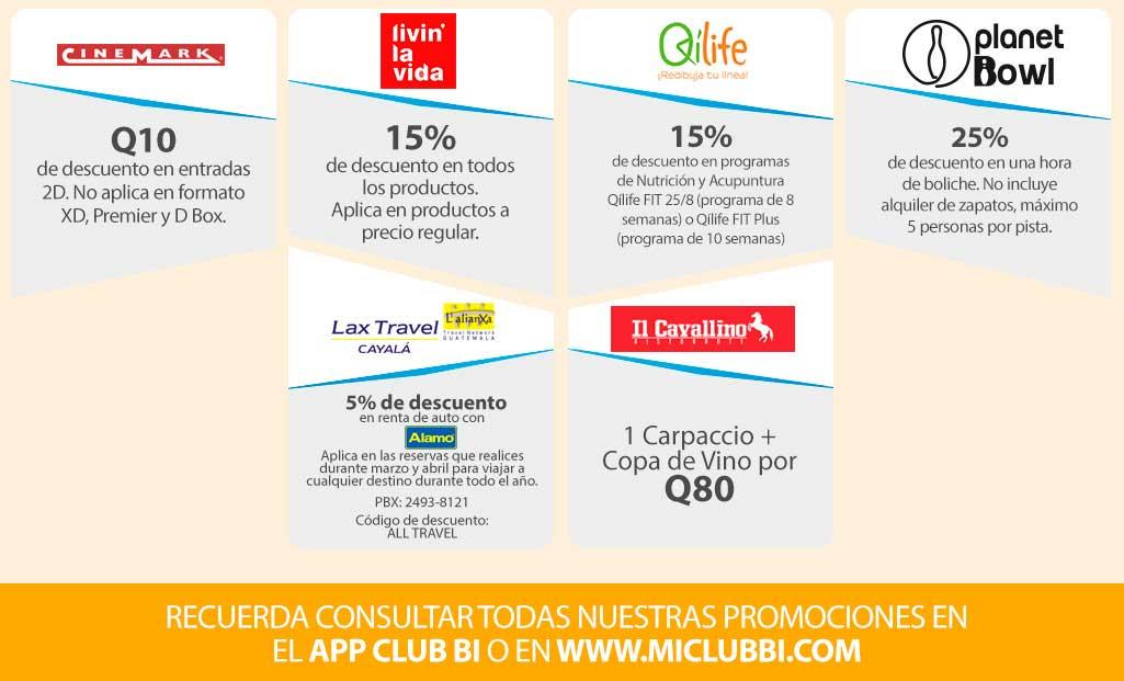 Beneficios Club Bi - Marzo 2018 - Banco Industrial