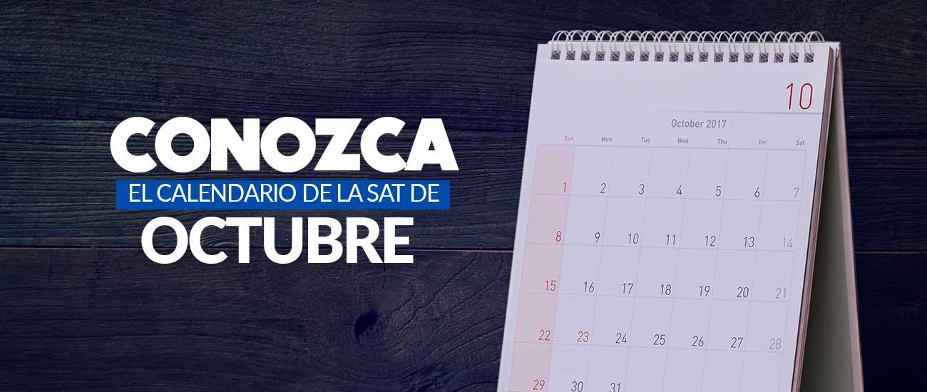Calendario SAT de octubre 2017 - Banco Industrial