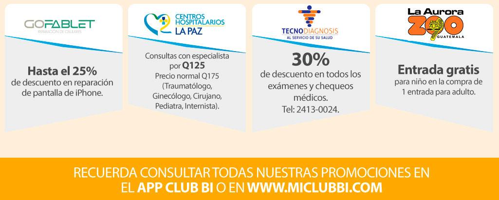 Beneficios Club Bi - Abril 2018 - Banco Industrial
