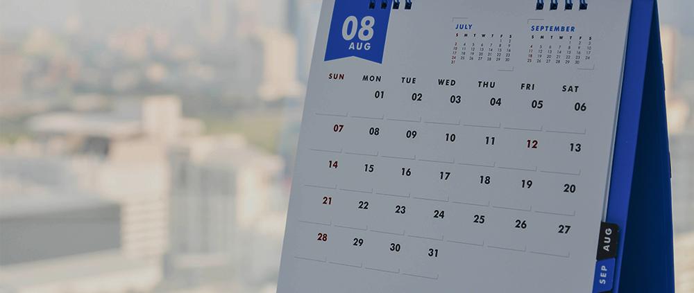banner calendario agosto